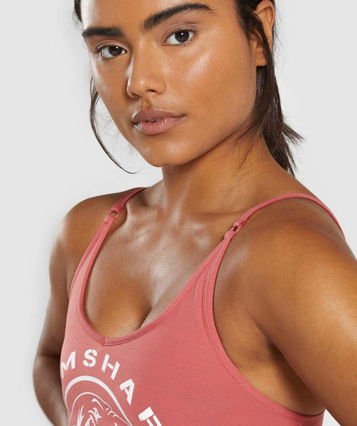 Gymshark Legacy Fitness Sports Bra - Brick Red 3