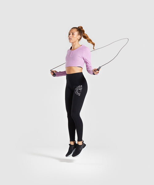 Gymshark Legacy Fitness Long Sleeve Crop Top - Pink 2