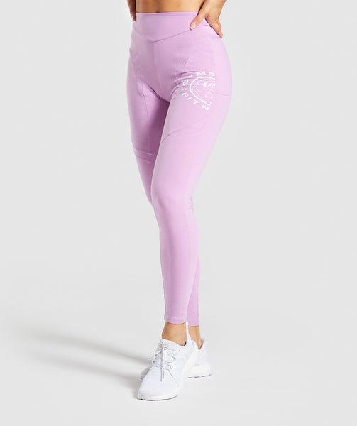 Gymshark Legacy Fitness Panel Leggings - Pink 4