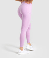 Gymshark Legacy Fitness Panel Leggings - Pink 8