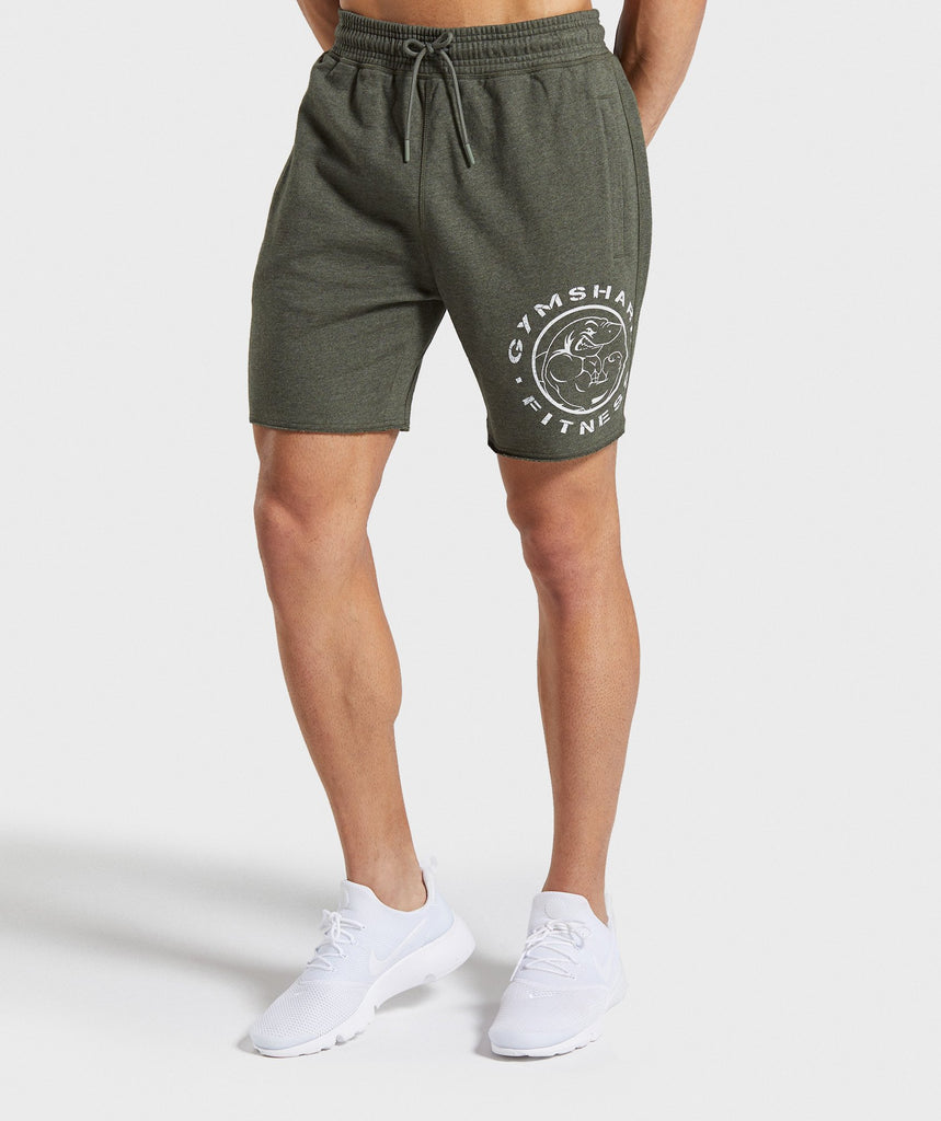 Gymshark Legacy Plus Shorts - Dark Green 1