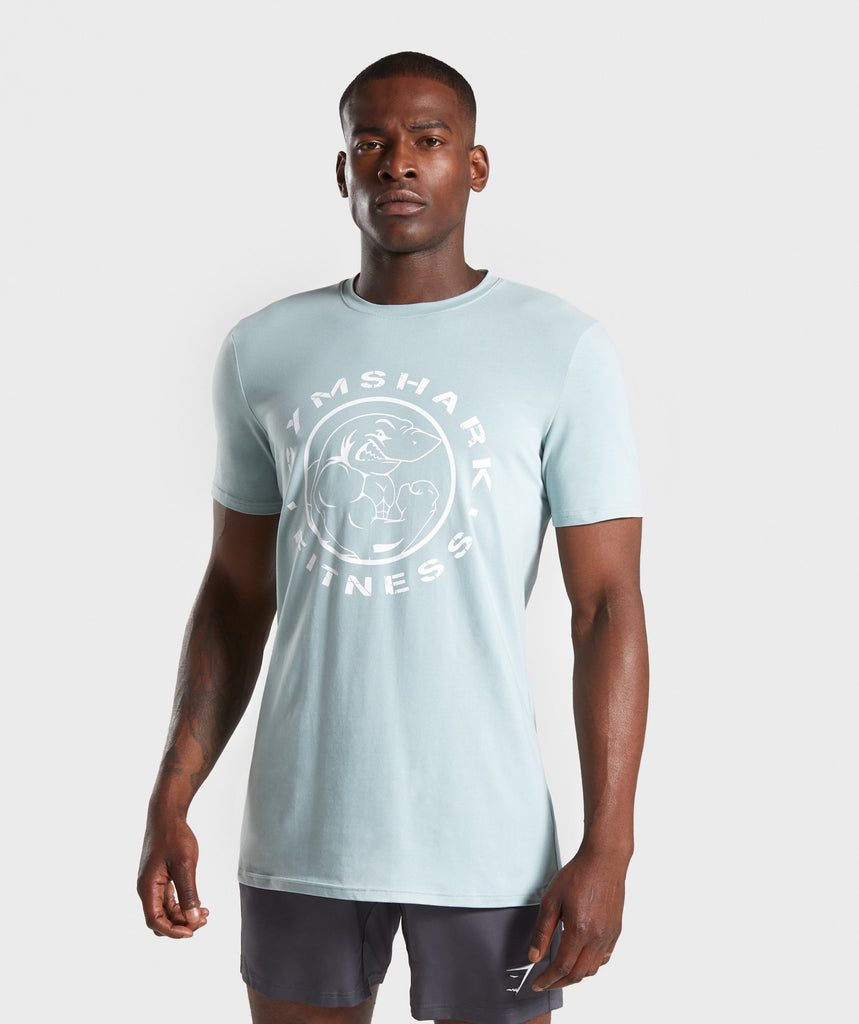 Gymshark Legacy T-Shirt- Light Blue/White 1