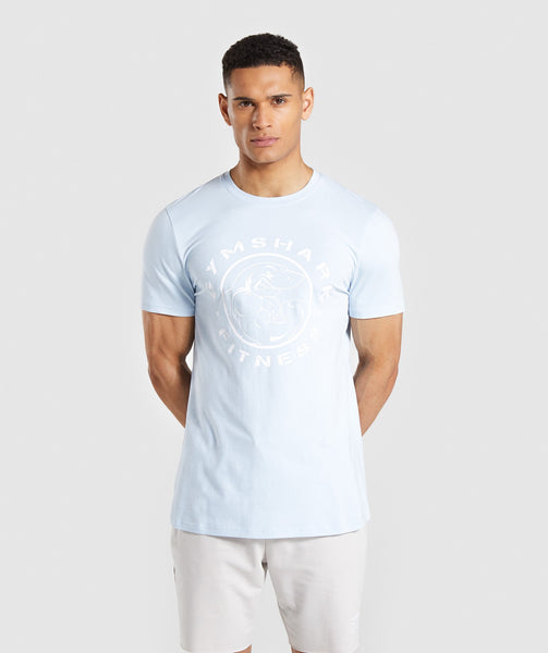 Gymshark Legacy T-Shirt - Light Blue 4