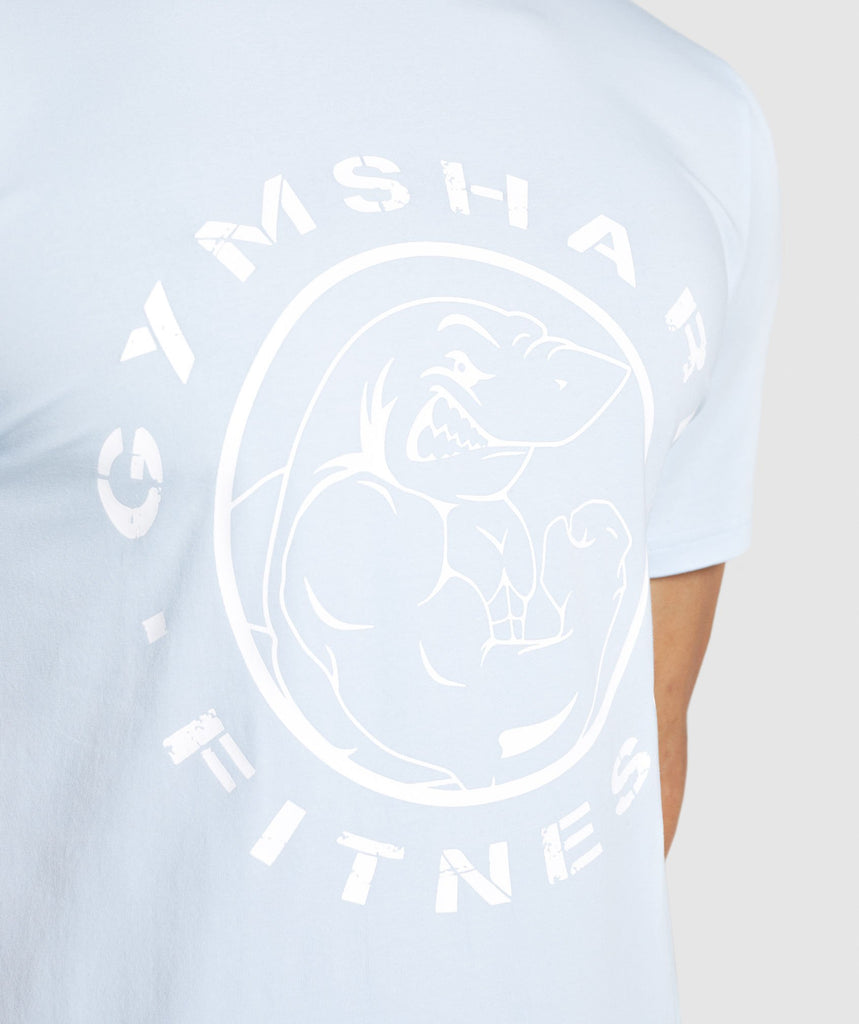Gymshark Legacy T-Shirt - Light Blue 5