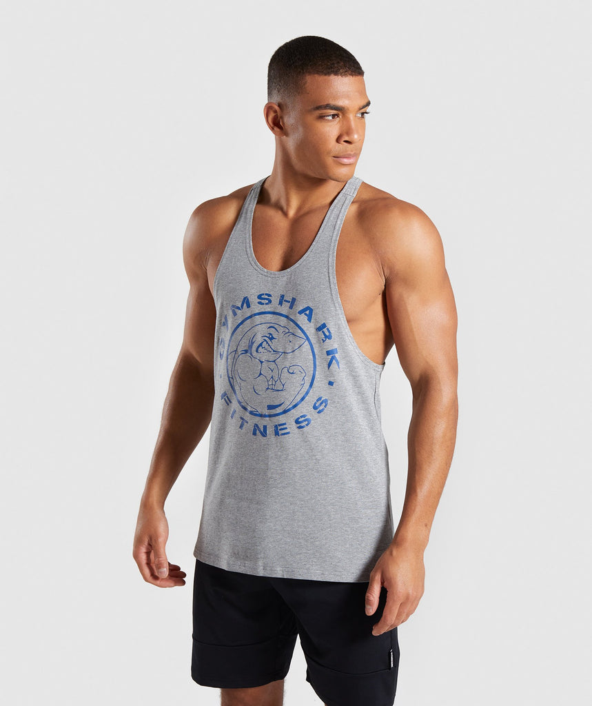 Gymshark Legacy Stringer - Grey/Blue 1