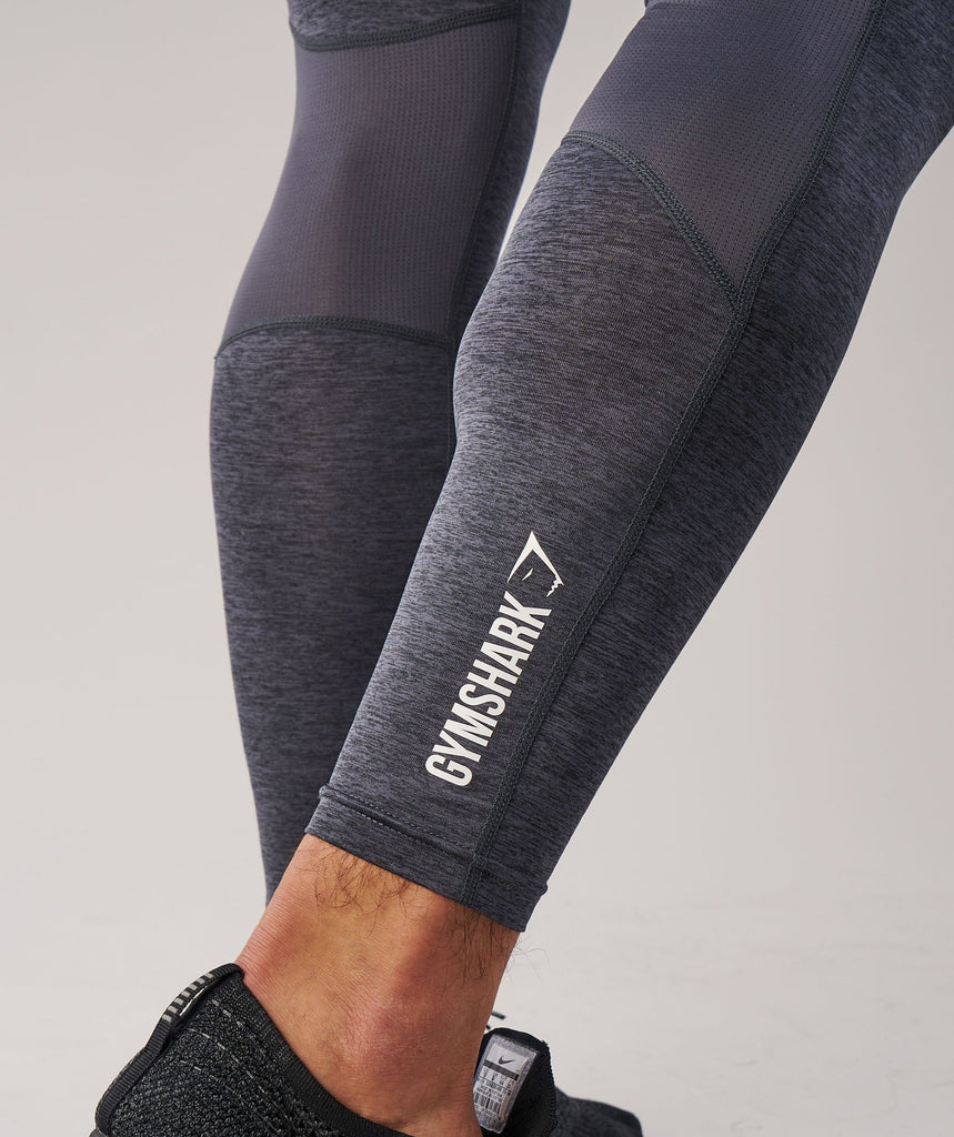 Gymshark Element Baselayer Leggings - Charcoal Marl 6