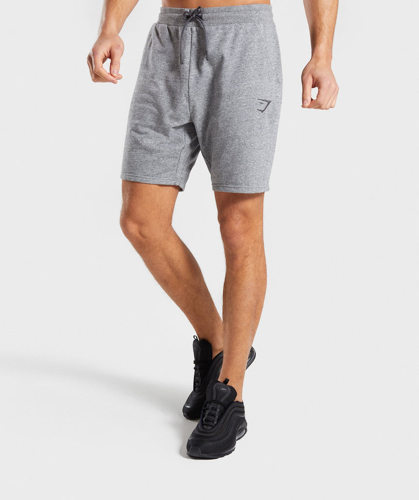 73d5666a3d6 Gymshark Lounge Shorts - Grey Marl 1