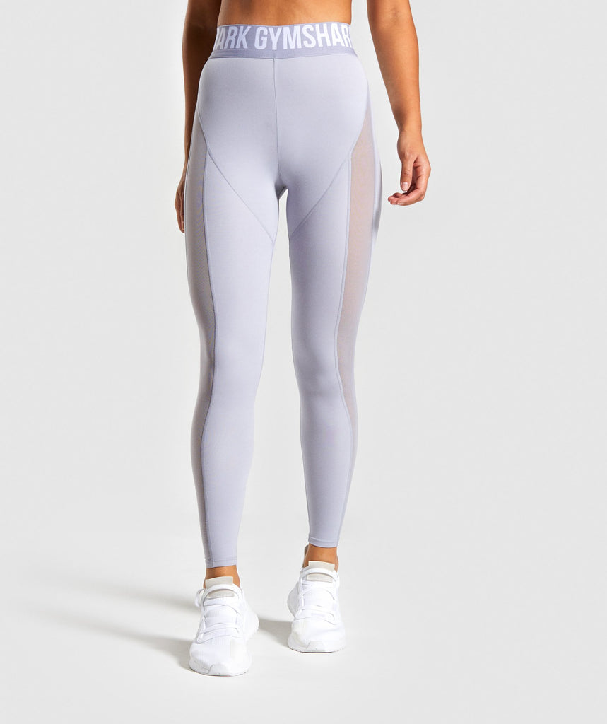 Gymshark Movement Mesh Leggings - Lilac 1