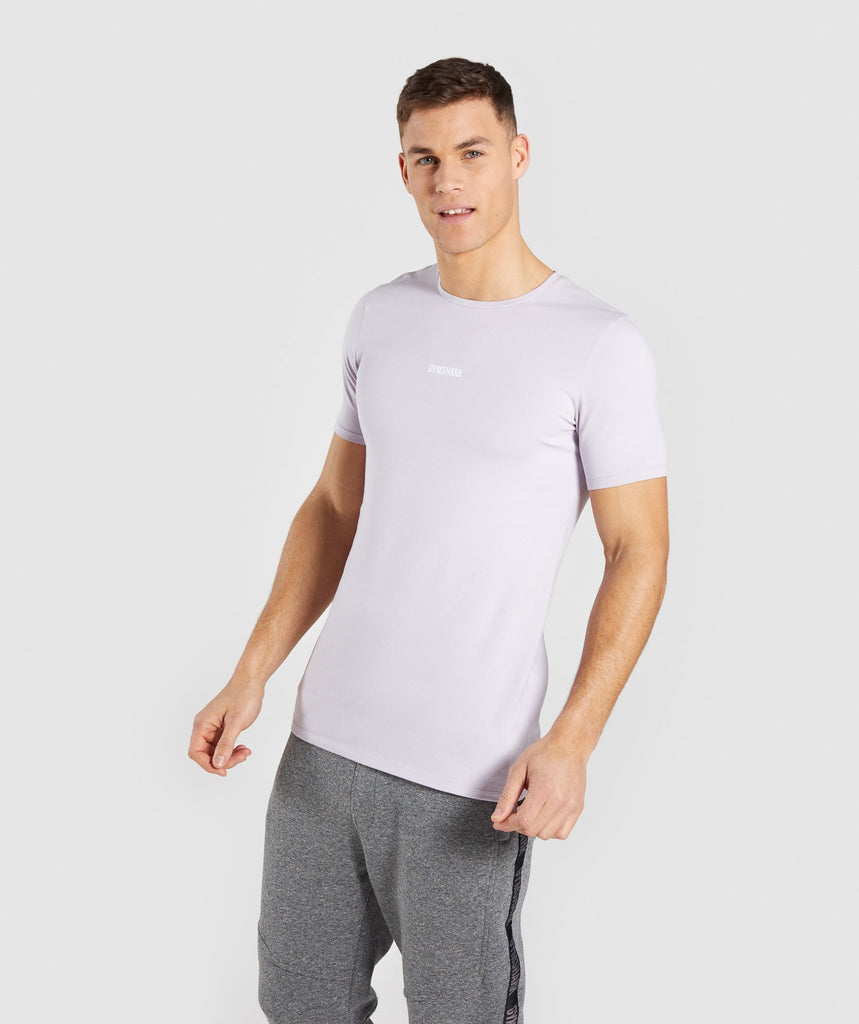 Gymshark Minimal T-Shirt - Purple Chalk 1
