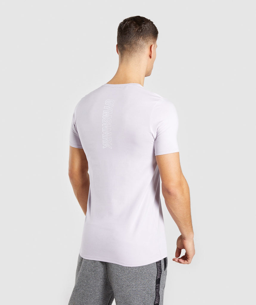 Gymshark Minimal T-Shirt - Purple Chalk 2