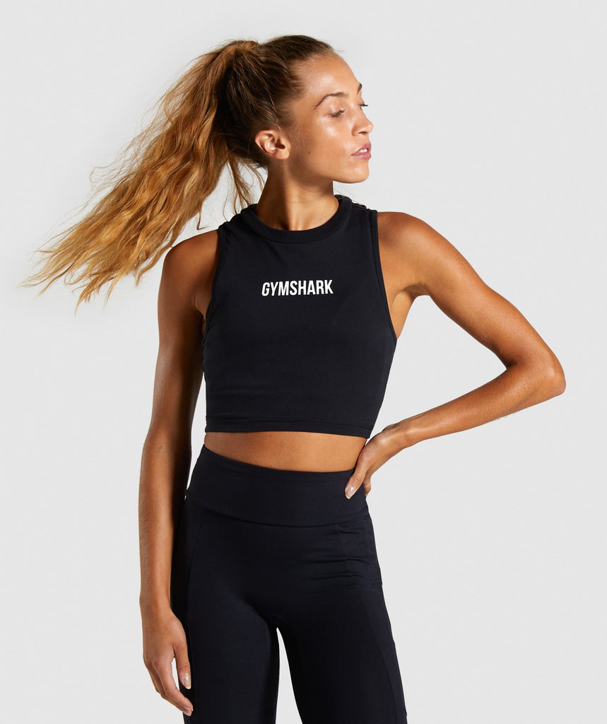 Gymshark Non Stop Crop Top - Black 1