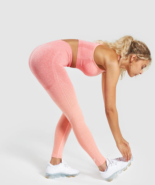 Gymshark Ombre Seamless Leggings  - Peach Coral 3