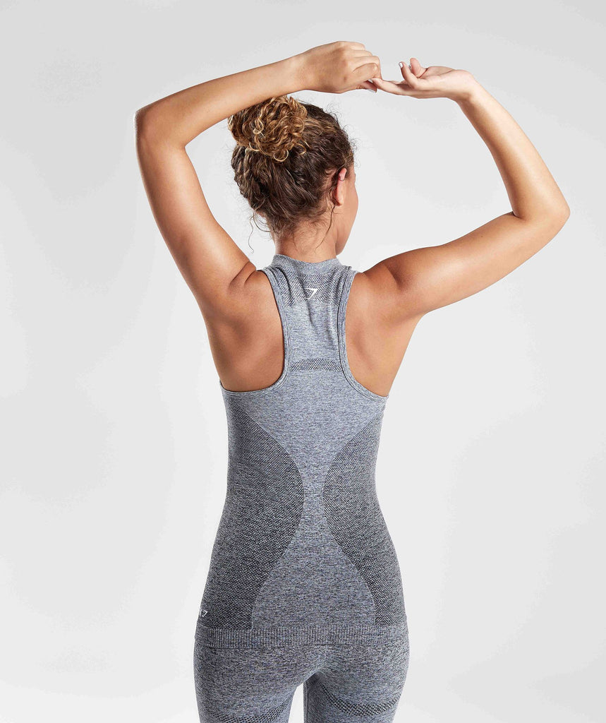 Gymshark Ombre Seamless Vest  - Black/Light Grey 2