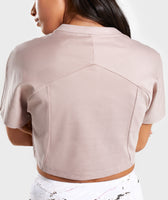 Gymshark Ori Crop Top - Taupe 12