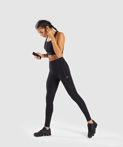 Gymshark Pace Running Leggings - Black 4
