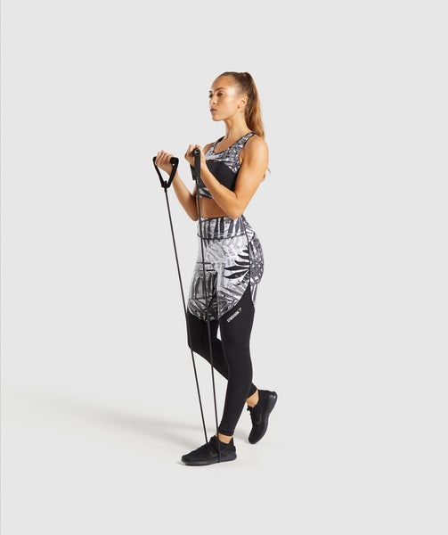 Gymshark Paradise Leggings - Black/White 4
