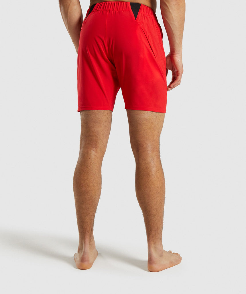 Gymshark Performance Board Shorts - Red 2