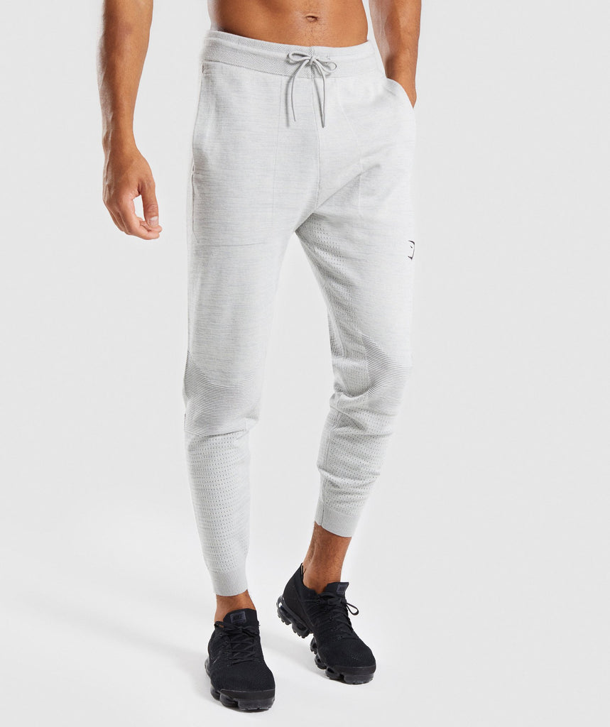 Gymshark Pinnacle Knit Joggers - Light Grey Marl 1