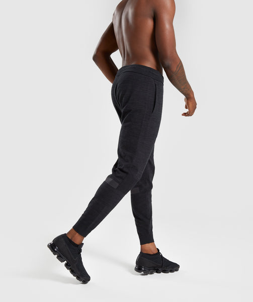 Gymshark Pinnacle Knit Joggers - Black Marl 1