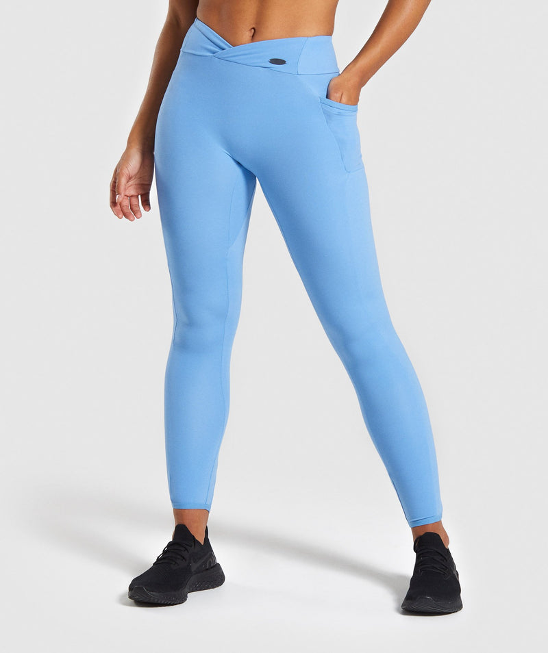 fb43071267ef0 Gymshark Poise Leggings - Blue ...