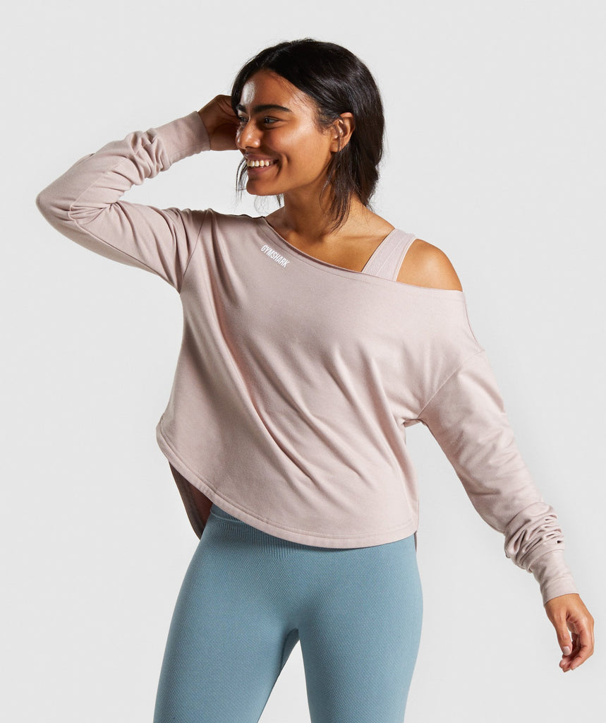 Gymshark Power Down Long Sleeve Top - Taupe 1