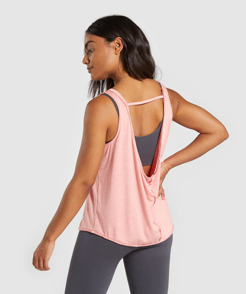 Gymshark Power Down Vest - Peach 1