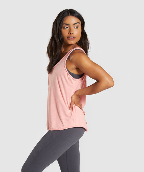 Gymshark Power Down Vest - Peach 2