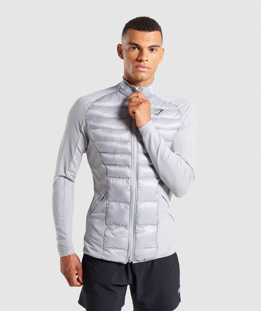 Gymshark Power Lightweight Jacket - Light Grey 1
