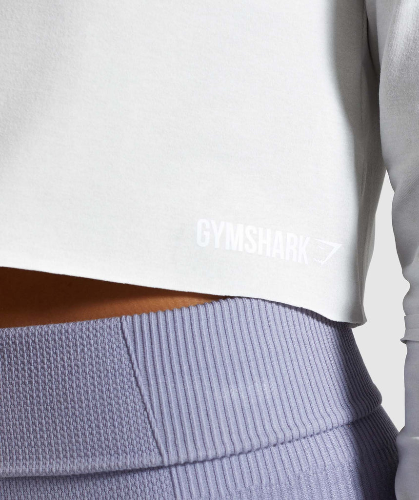 Gymshark Power Down Crop Top - Light Grey 5