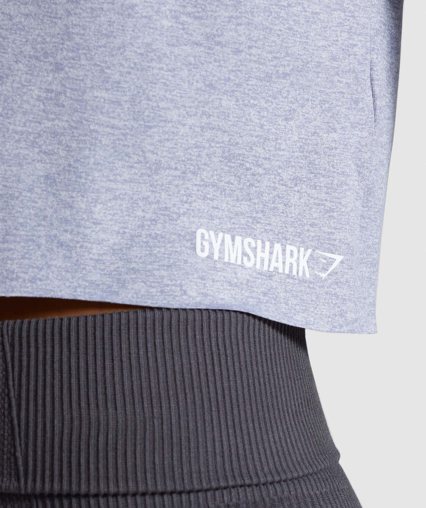 Gymshark Power Down Crop Top - Steel Blue 6