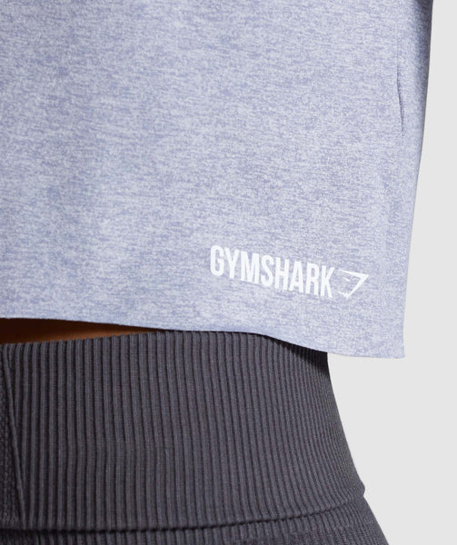 Gymshark Power Down Crop Top - Steel Blue 4