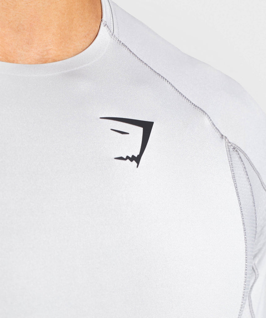 Gymshark Premium Baselayer T-Shirt - Light Grey 5