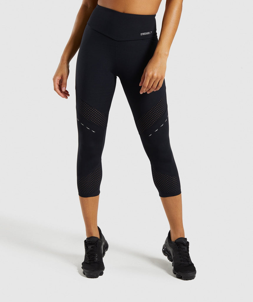 Gymshark Pro Perform Crop Leggings - Black 1