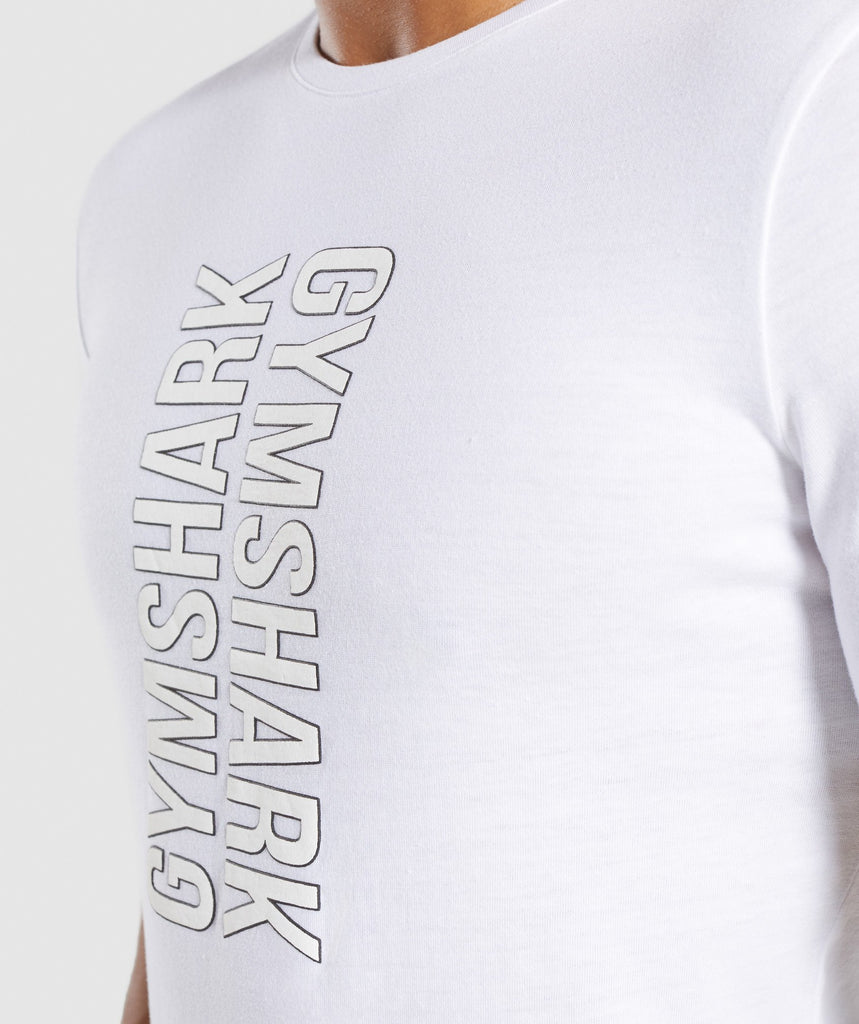 Gymshark Profile T-Shirt - White 6