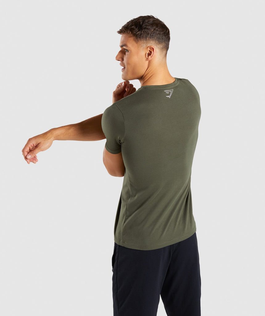 Gymshark Profile T-Shirt - Woodland Green 2