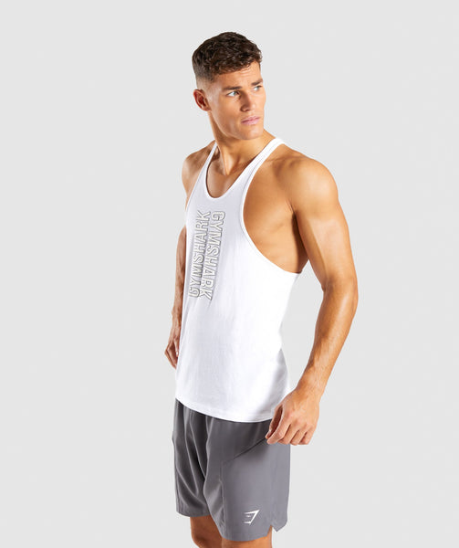 Gymshark Profile Stringer - White 2