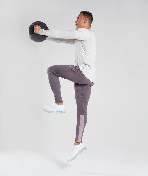 Gymshark Reactive Training Bottoms - Slate Lavender/Purple Chalk 3