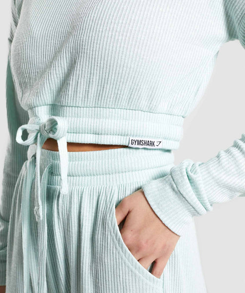 Gymshark Relaxed Sweater - Washed Green 4