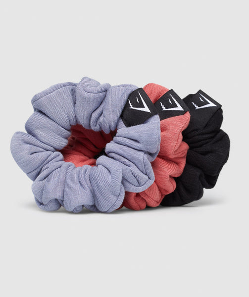 Gymshark Scrunchies (3PK) - Black/Red/Blue 4