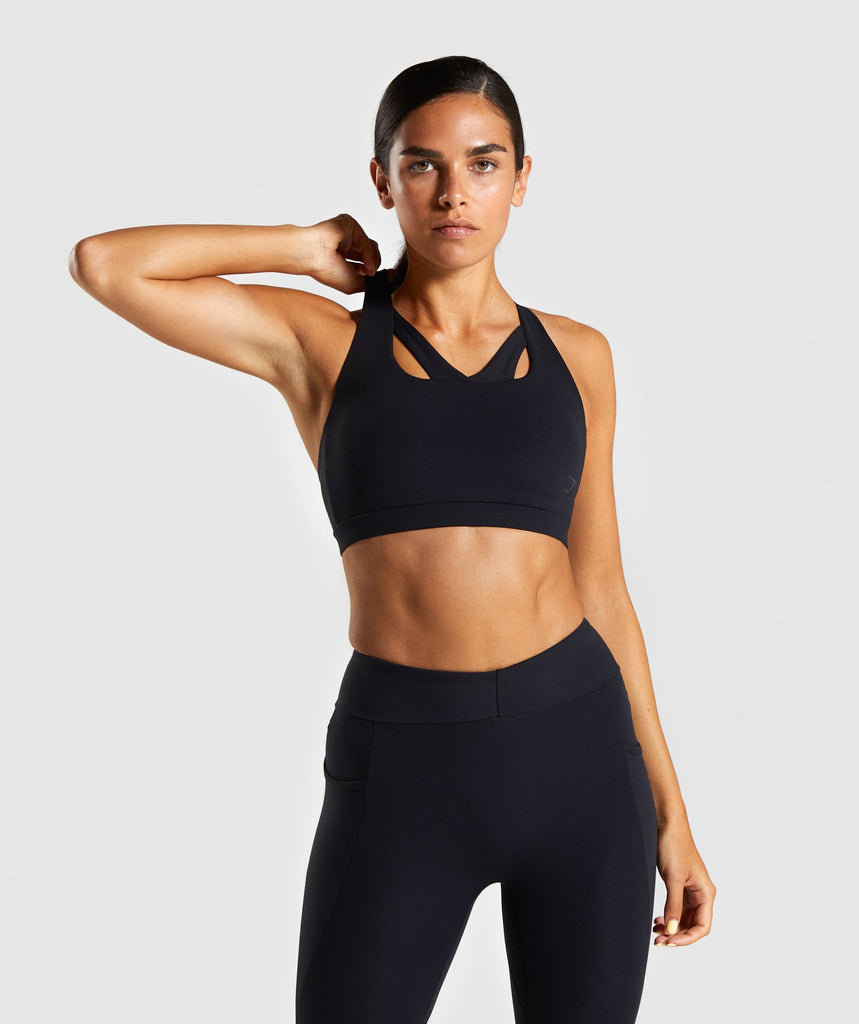 Gymshark Sculpt Sports Bra - Black 1