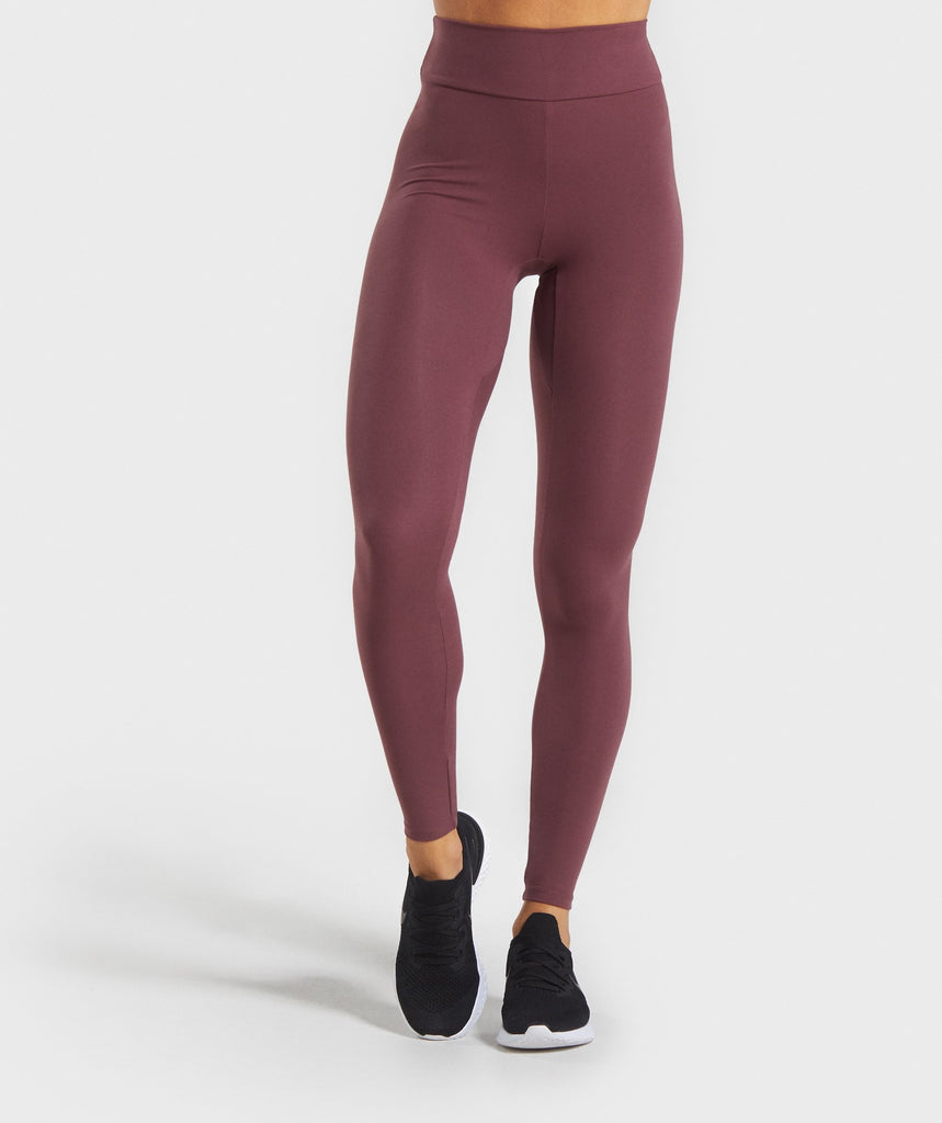 Gymshark Solo Leggings - Berry Red 1