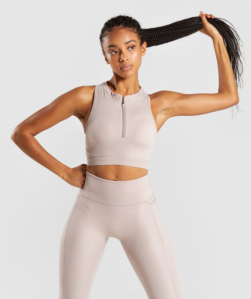 Gymshark Speed Sports Bra - Taupe 1