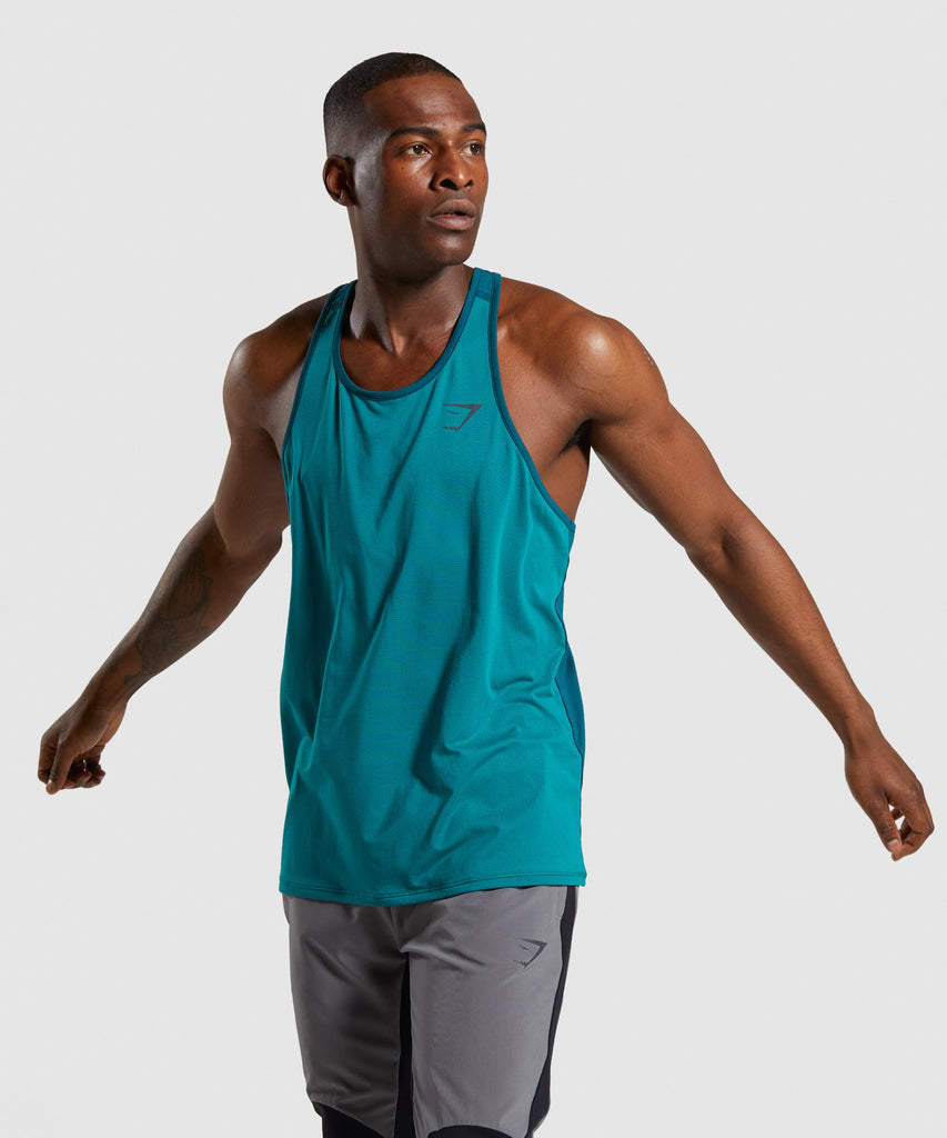 Gymshark Speed Tank - Green 1