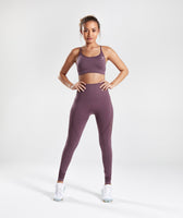 Gymshark Energy Seamless High Waisted Leggings - Purple Wash 10