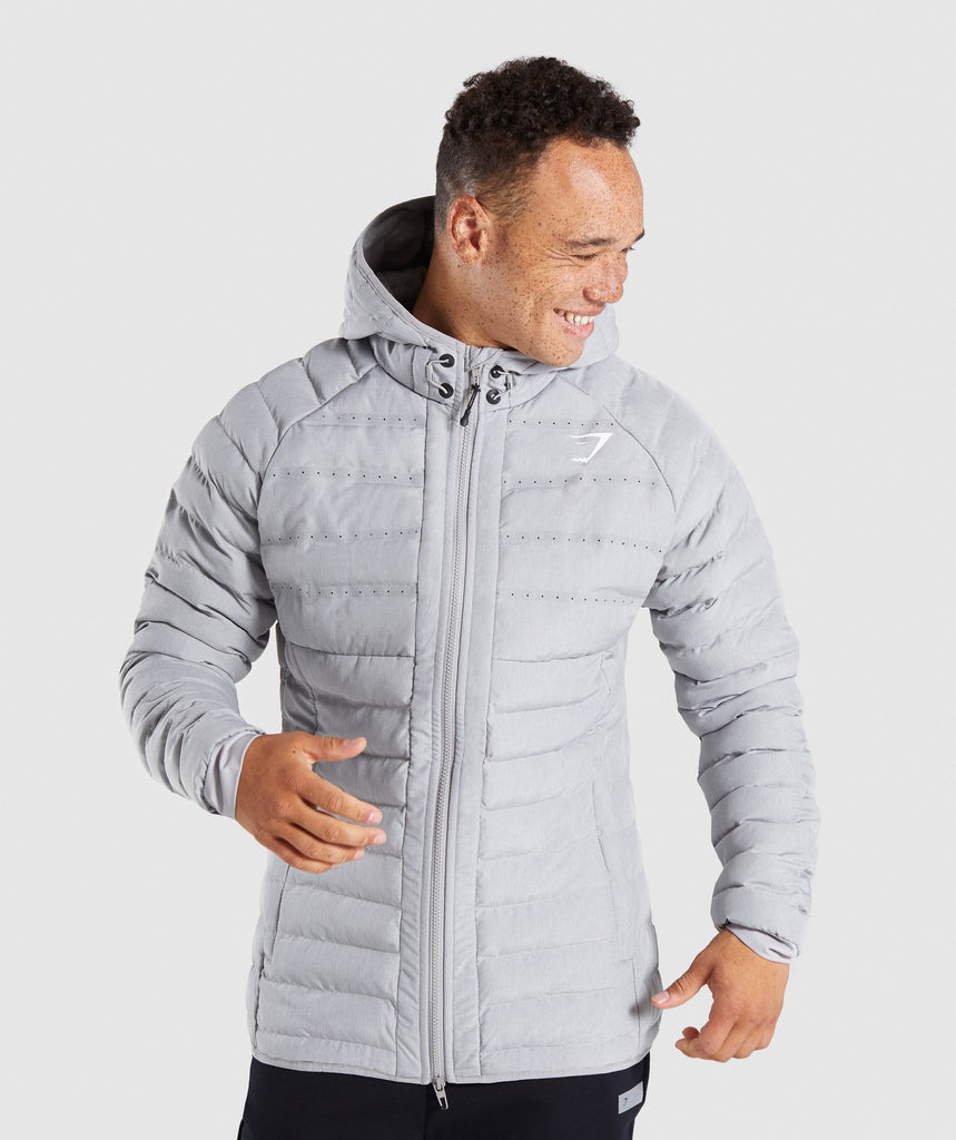 Gymshark Sector Jacket V2 - Light Grey 4