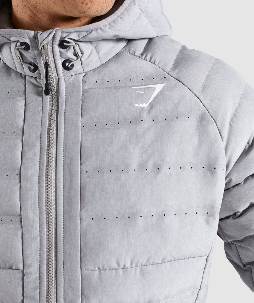 Gymshark Sector Jacket V2 - Light Grey 5