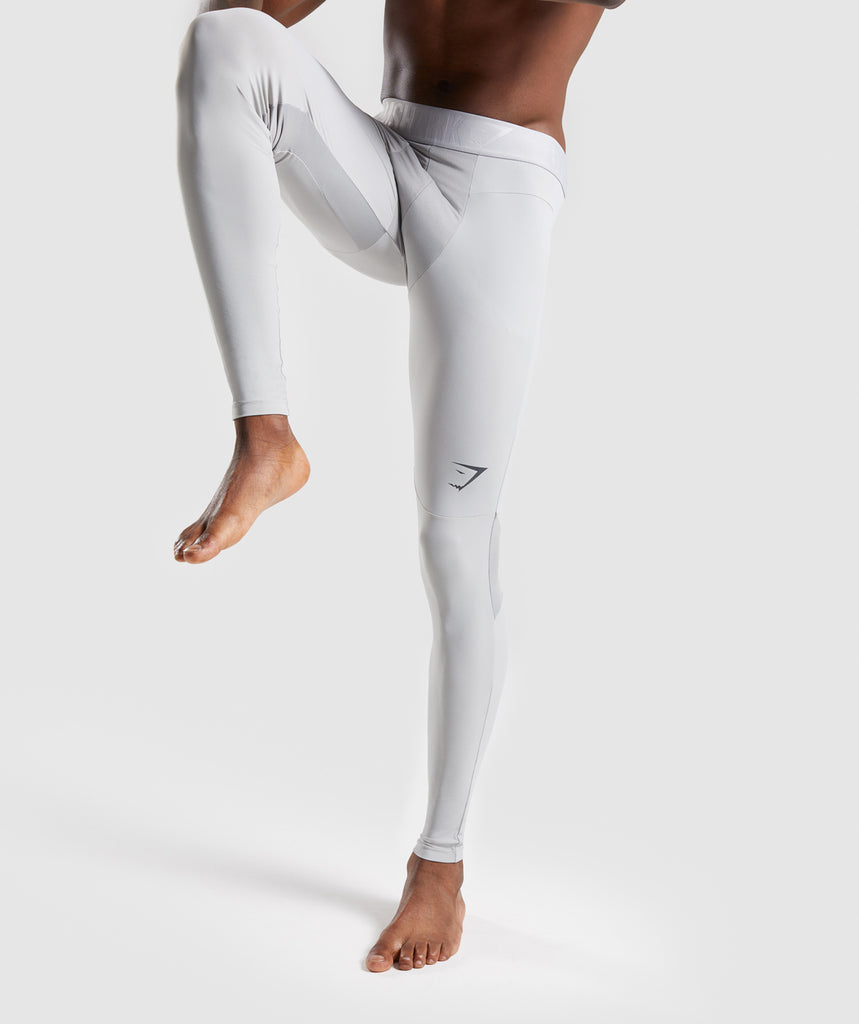 Gymshark Selective Compression Leggings - Light Grey 1