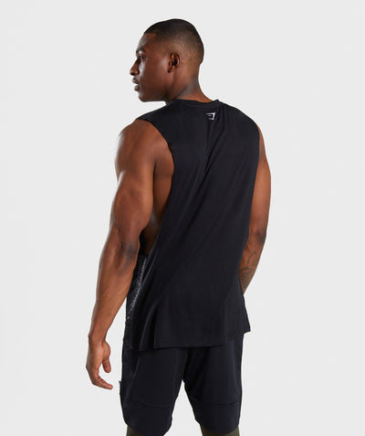 Gymshark Shadow Drop Armhole Tank - Black