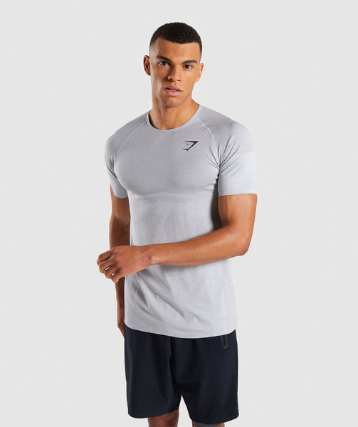 Gymshark Shadow X Seamless T-Shirt - Light Grey Marl 4
