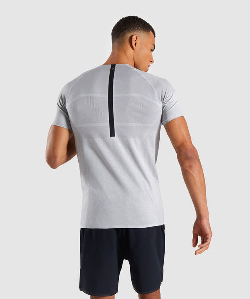 Gymshark Shadow X Seamless T-Shirt - Light Grey Marl 1